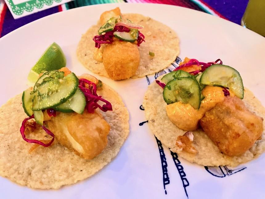 Fish tacos from José. - LAUREN DREWES DANIELS