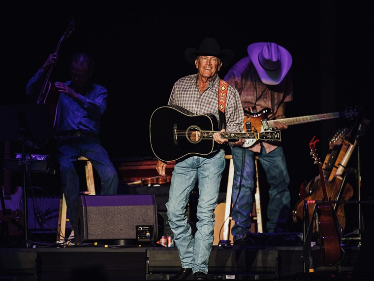 George Strait, a true king of country music hits, headlined ACL on Friday Night. - RACHEL PARKER