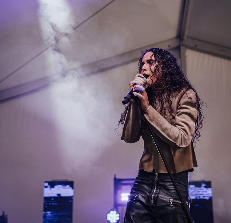 070 Shake gave off crazy rage-filled Michael Jackson vibes in the Titos tent. - RACHEL PARKER