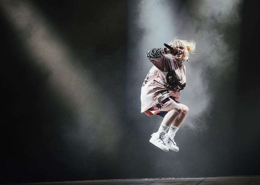 Eilish catching some air. - RACHEL PARKER