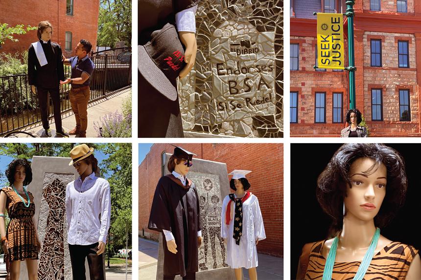 "Judy Miranda and Geraldina ""Jerry"" Lawson, ""The Journey Continues Toward Justice, El Movimiento Sigue,"" 2021, multimedia installation. - COURTESY OF THE ARTISTS"