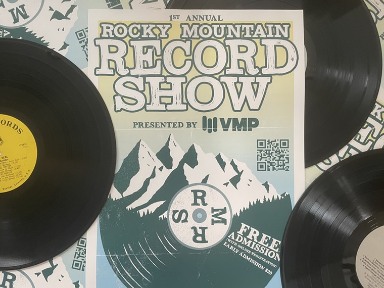 A flier for the Rocky Mountain Record Show. - ROCKY MOUNTAIN RECORD SHOW