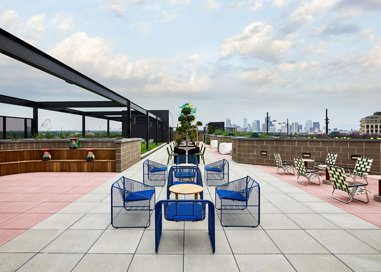 The Red Barber rooftop bar opened August 12 at the Catbird hotel. - SAGE RESTAURANT CONCEPTS