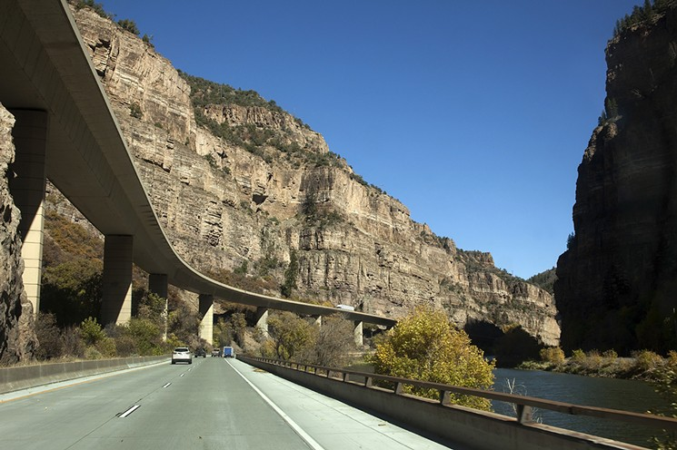 The stretch of I-70 that goes through Glenwood Canyon was completed in 1992. - GETTY IMAGES