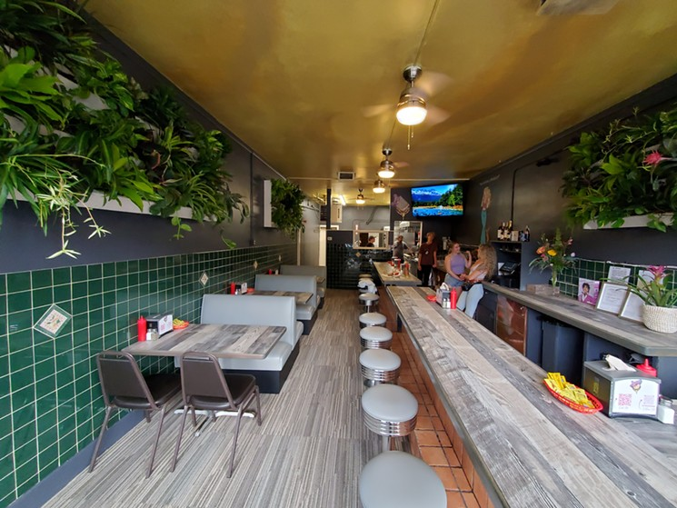 Old-school burger joint simplicity meets a modern aesthetic at Lucy's. - MOLLY MARTIN