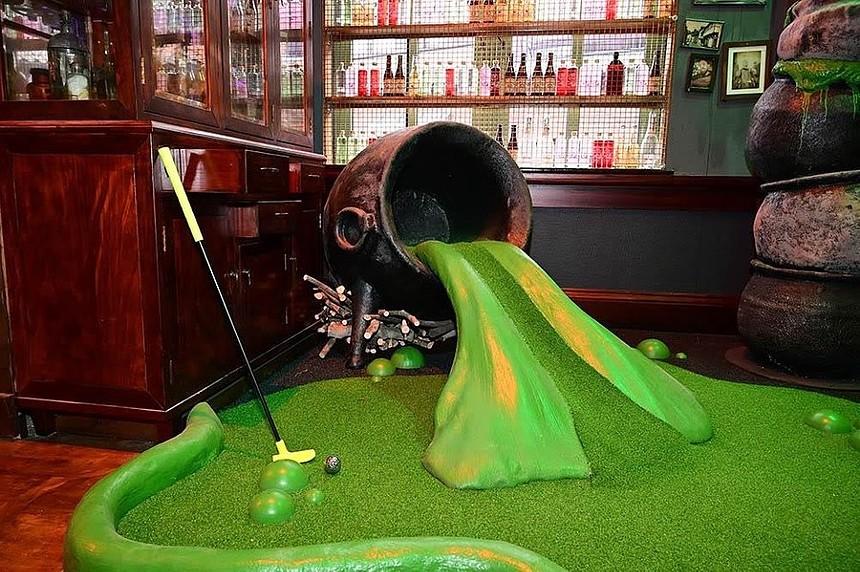 Wizard-themed mini golf for the win. - HIDDEN.COM