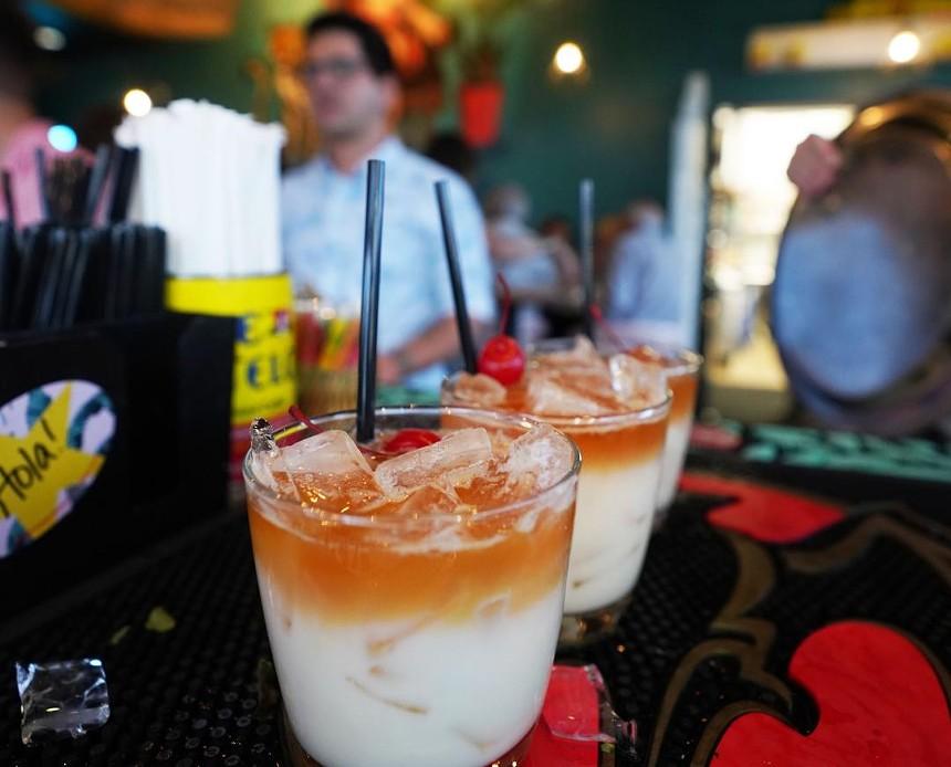 Tropical drinks are one of the perks of visiting Cuba Cuba. - CUBA CUBA