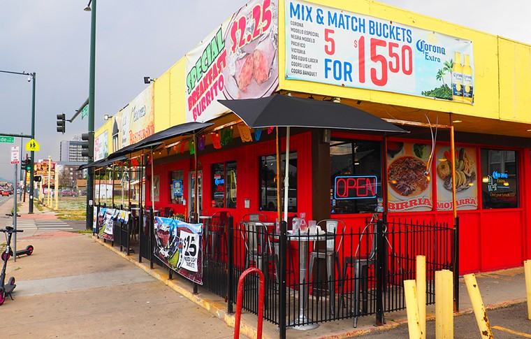 Los Mesones is one of the last Mexican restaurants on this stretch of Colfax. - JAY VOLLMAR