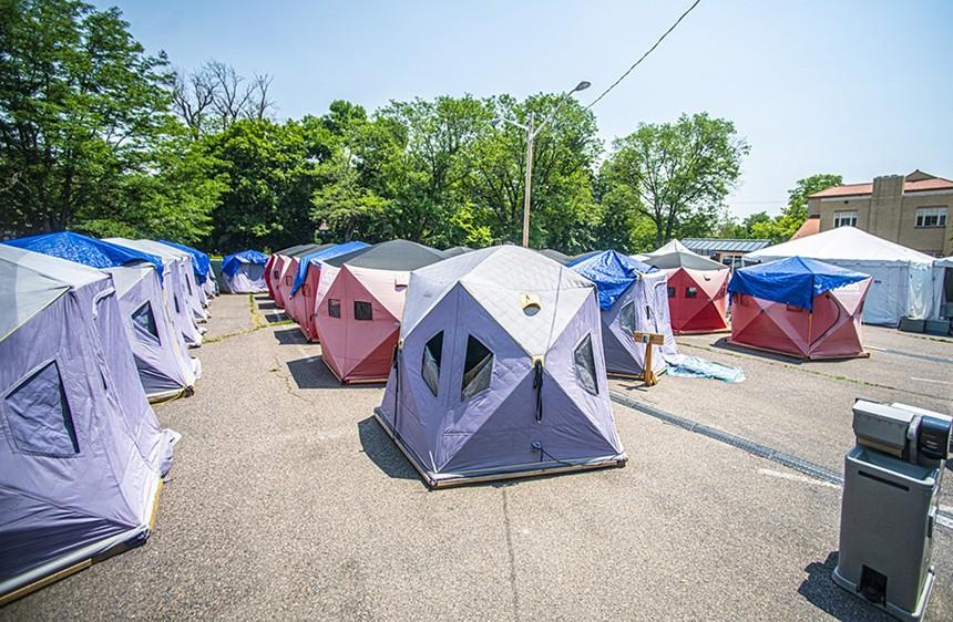 The safe campsite in Park Hill.  - EVAN SEMON