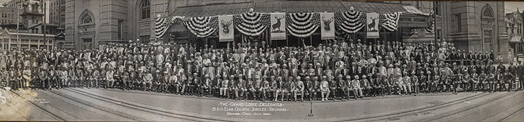 A photo of the Denver Elks membership in the early 1900s, when the lodge was downtown. - EVAN SEMÓN