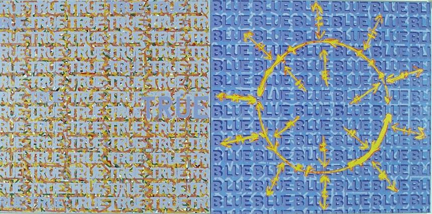"Roland Bernier, ""True Blue."" - ROLAND BERNIER, COURTESY OF WALKER FINE ART"