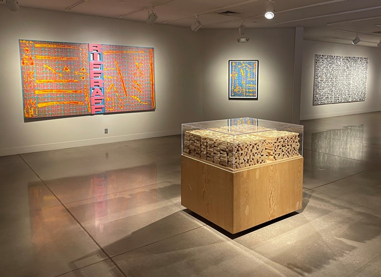 Installation view of Roland Bernier: In Other Words at the Arvada Center. - ROBERT DELANEY