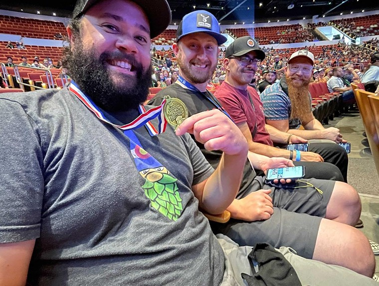 The crew from Crystal Springs Brewing at the GABF awards ceremony. - CRYSTAL SPRINGS BREWING