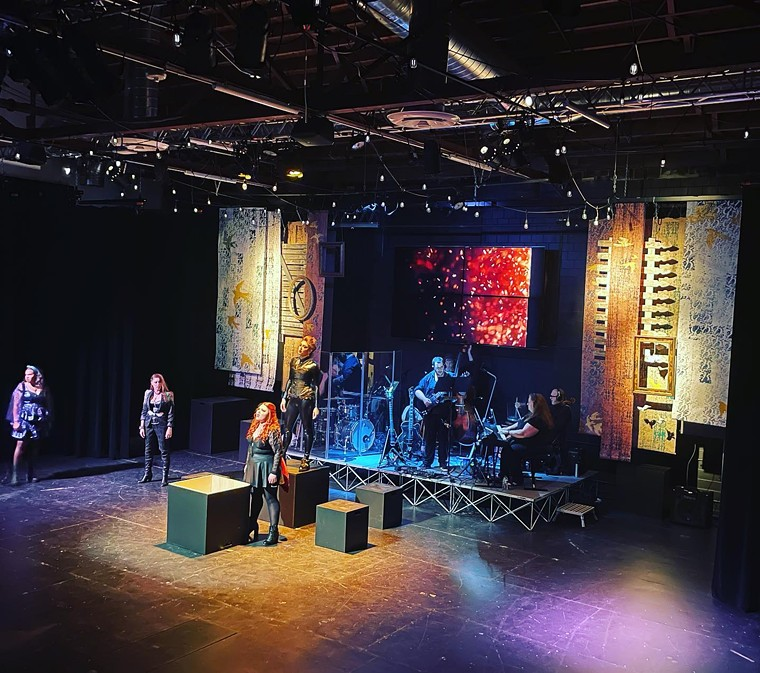 Lizzie rocks at the People's Building. - FORGE LIGHT THEATREWORKS