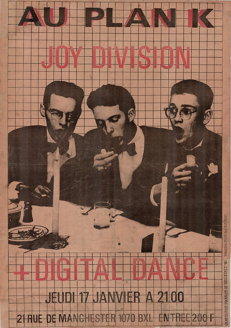 This Joy Division poster is just one piece out of thousands of posters, fliers and memorabilia from the Andrew Krivine Collective on view at Emmanuel Gallery. - ANDREW KRIVINE COLLECTION