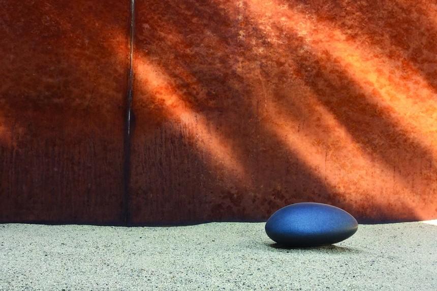 "Jerry Wingren, ""Swedish Black Granite Resting Stone #1,"" 2006-2008, black granite. Courtesy of Alexander Esseveld. - JERRY WINGREN"