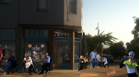 Artist's rendering of what the cafe will look like when it's up and running. - JANE WOODMAN