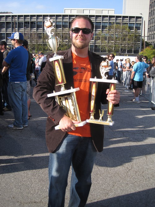 A man, and his trophies