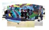 A montage of the DeFremery Park mural.