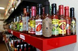 WENDI JONASSEN - A sampling of the hot sauces available at HEAT in Berkeley.