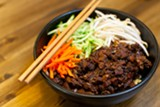 BERT JOHNSON - A steaming bowl of Taiwan Bento's zhajiangmian.