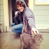 Adam Myatt (above) hopes to one day open a sanctuary for West Oakland's feral cats.