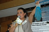 Alejandra Leon and other recycling workers made a presentation last week to the Oakland City Council.