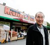 Alex Hahn in front of the successful Koreana Plaza market.