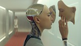 Alicia Vikander stars as a fascinating fembot in Ex Machina.