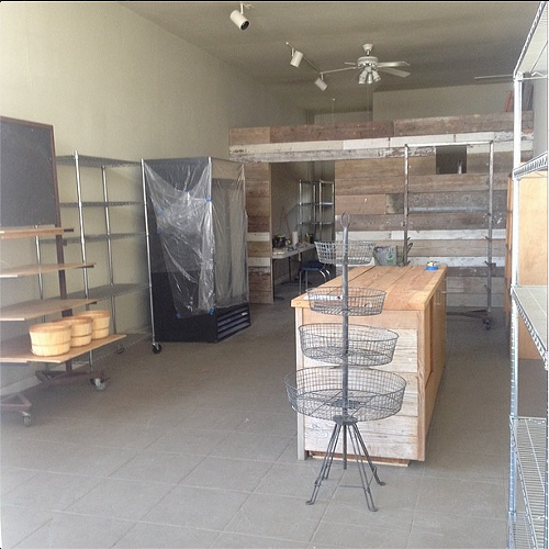 An early shot of the interior at Corner Market (via Instagram, @cornermarketnorthoakland).