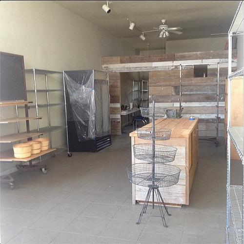 An early shot of the interior at Corner Market (via Instagram, @cornermarketnorthoakland).