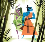 An illustration from Ramayana: Divine Loophole, by Sanjay Patel.