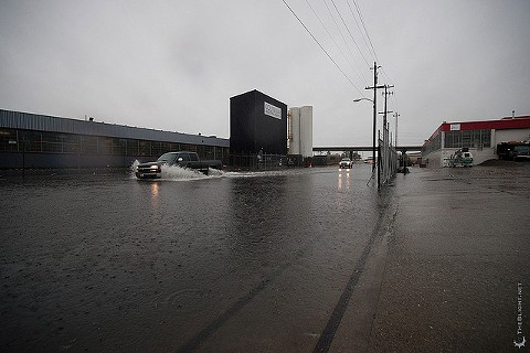 Flooding at 81st Ave. in Oakland - NEIL GIRLING
