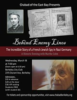 Behind Enemy Lines with Marthe Cohn