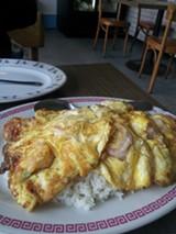 LUKE TSAI - Ben's also serves a killer rendition of shrimp and scrambled eggs over rice.