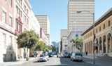 CITY OF BERKELEY - Berkeley's proposed downtown plan envisions adding four new 180-foot-tall buildings.