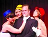Bernard (Matt Davis) is a playboy who's wingin' it with three air hostesses (Laura Morgan, Jayme Catalano, and Rhonda Taylor).