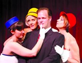MITZI WONG-NGUYEN - Bernard (Matt Davis) is a playboy who's wingin' it with three air hostesses (Laura Morgan, Jayme Catalano, and Rhonda Taylor).