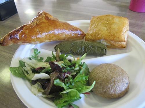 beureg, sarma, koofta, limp salad
