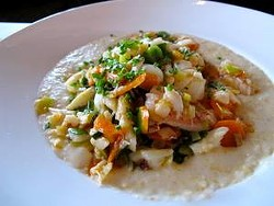 Crab and grits at Miss Ollie's (via Facebook).