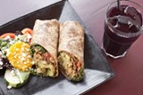 """Bissap Baobab's """"Afro wrap"""" is a West African take on a burrito."""