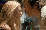 Blake Lively as O and Benicio Del Toro as Lado in Savages.
