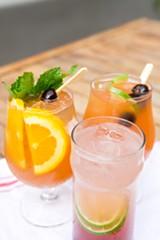 BERT JOHNSON - Box and Bells' Diablo, Tortuga, and Singapore Sling tiki drinks.