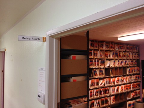 Medical records room after the clinic closed last month. - SAM LEVIN / FILE PHOTO