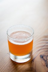 STEPHEN LOEWINSOHN - Camino's tequila drink uses the kitchen's leavings from candying grapefruit.
