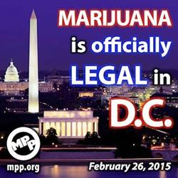 Marijuana Policy Project illustration celebrates the enactment of marijuana legalization in the nation's capital Thursday. - MPP
