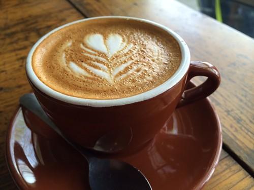 Cappuccino made using the new One Twenty Three Union Blend.