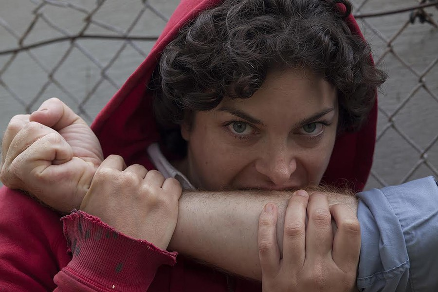 Carlye Pollack as Red, a Little Red Riding Hood with bite. - SERENA MORELLI