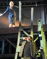 DAVID ALLEN - Carrie Paff and Gabriel Marin in Collapse.