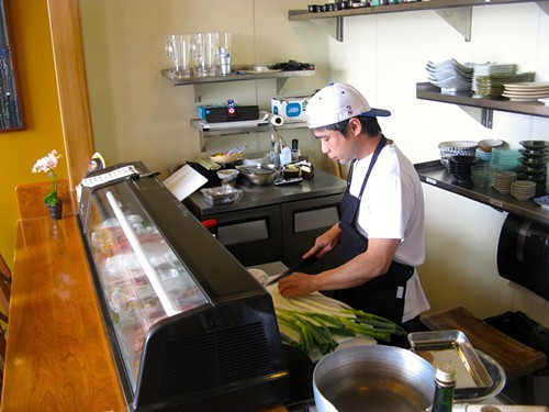 Chef Chikara Ono, at work at B-Dama.